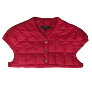 HAMP SHEER Quilted Crop Jacket Red Sleeveless S